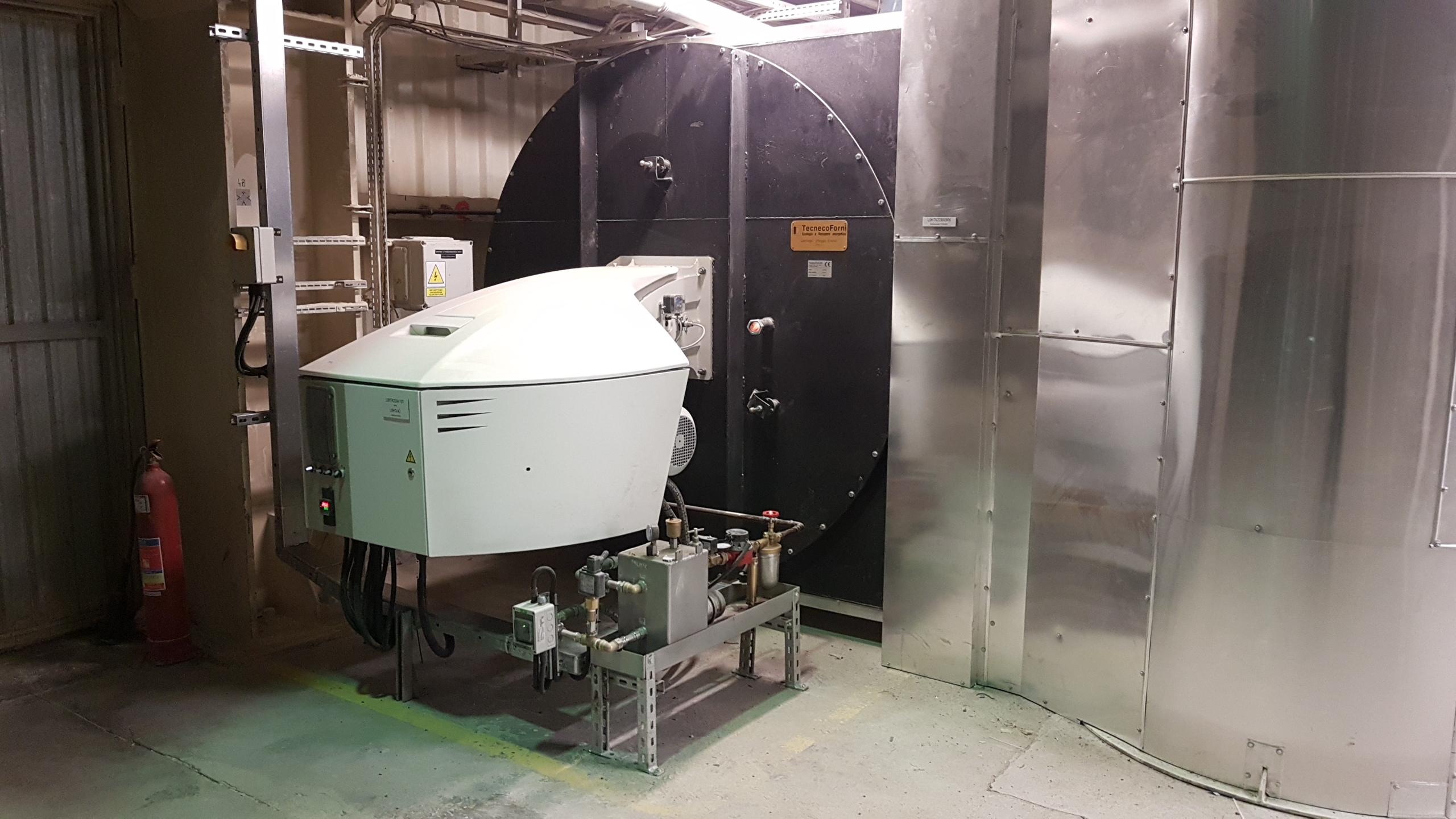 Palnik ELCO (4000 kW) z generatorem gorącego powietrza Ecoflam-Tecneco Forni - Bogatynia 2018